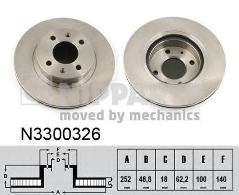 Тормозной диск NIPPARTS арт. N3300326