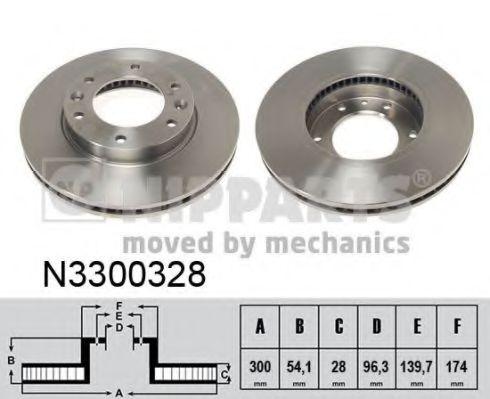 Тормозной диск NIPPARTS арт. N3300328