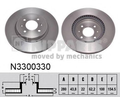 Тормозной диск NIPPARTS арт. N3300330