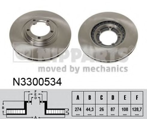 Тормозной диск NIPPARTS арт. N3300534