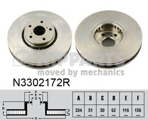 Тормозной диск NIPPARTS арт. N3302172R