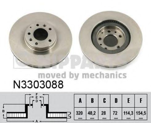 Тормозной диск NIPPARTS арт. N3303088