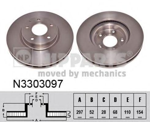 Тормозной диск NIPPARTS арт.