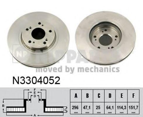 Тормозной диск NIPPARTS арт. N3304052