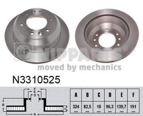 Тормозной диск NIPPARTS арт. N3310525