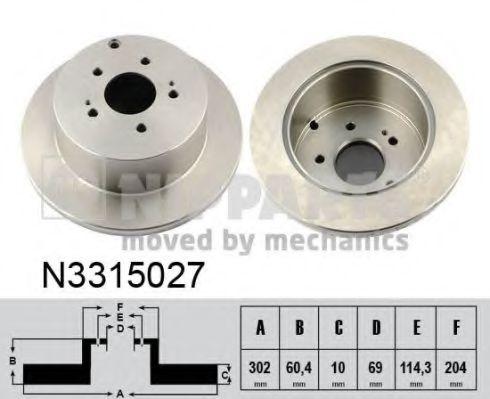 Тормозной диск NIPPARTS арт. N3315027