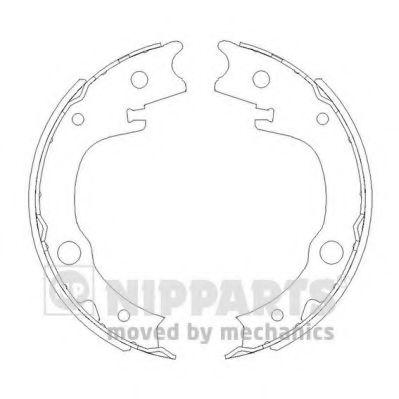 Комплект тормозных колодок, стояночная тормозная система NIPPARTS арт. N3502086