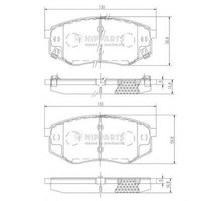 Комплект тормозных колодок, дисковый тормоз NIPPARTS арт. N3600545