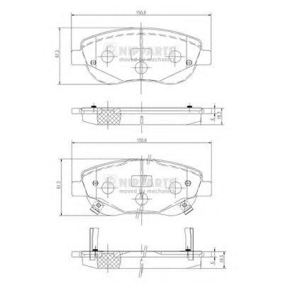 Комплект тормозных колодок, дисковый тормоз NIPPARTS арт. N3602135