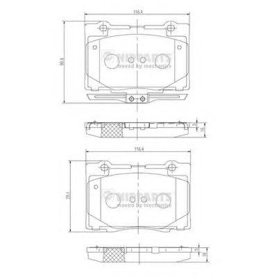 Колодки гальмівні дискові Nipparts N3604070