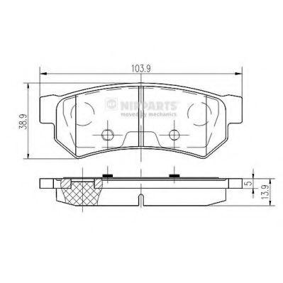 Комплект тормозных колодок, дисковый тормоз NIPPARTS арт. N3610907