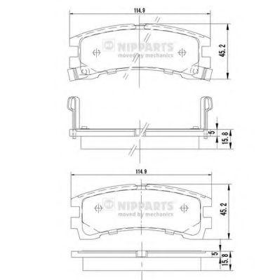 Колодки гальмівні дискові Nipparts J3611028