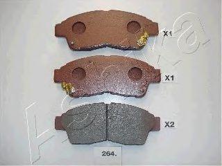 Комплект тормозных колодок, дисковый тормоз ASHIKA арт. 5002264