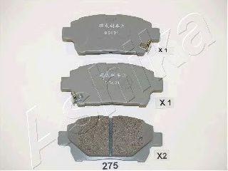 Комплект тормозных колодок, дисковый тормоз ASHIKA арт. 5002275