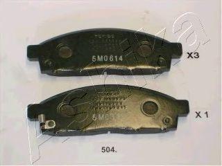 Комплект тормозных колодок, дисковый тормоз ASHIKA арт. 5005504