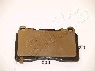 Комплект тормозных колодок, дисковый тормоз ASHIKA арт. 5100006