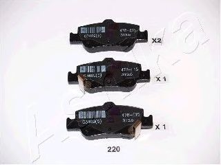 Комплект тормозных колодок, дисковый тормоз ASHIKA арт. 5102220