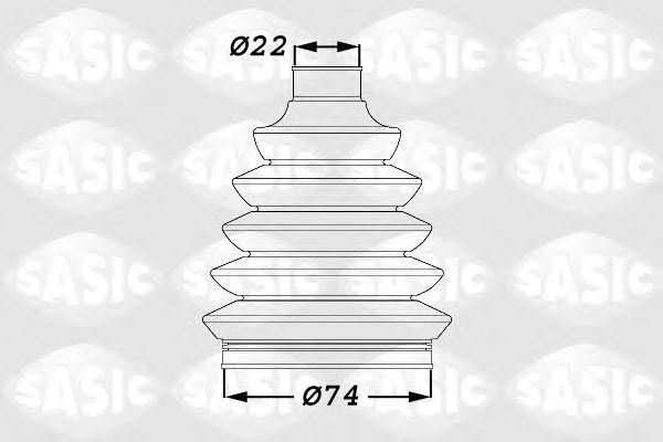 Комплект пылника, приводной вал SASIC арт. 1900011