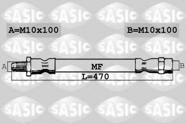 ШЛАНГ ТОРМОЗН. СИСТ.P-PARTNER >08 AV 480685  L=470 SASIC арт.