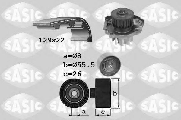 Водяной насос + комплект зубчатого ремня SASIC арт.