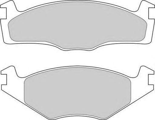 Комплект тормозных колодок, дисковый тормоз DURON арт.