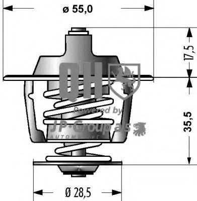 Термостат, охлаждающая жидкость JPGROUP арт.
