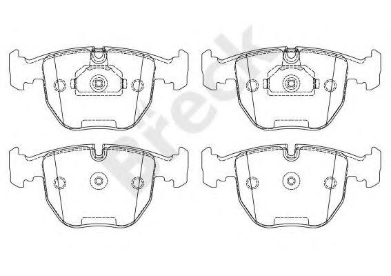 Комплект тормозных колодок, дисковый тормоз BRECK арт.