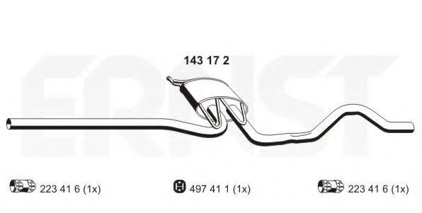 Средний глушитель выхлопных газов ERNST арт. 143172