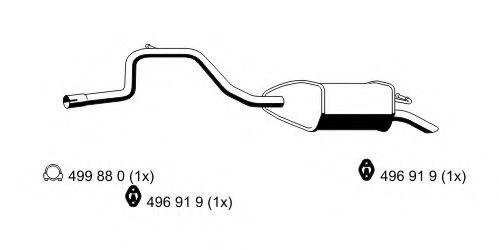 Глушитель выхлопных газов конечный ERNST арт. 344081