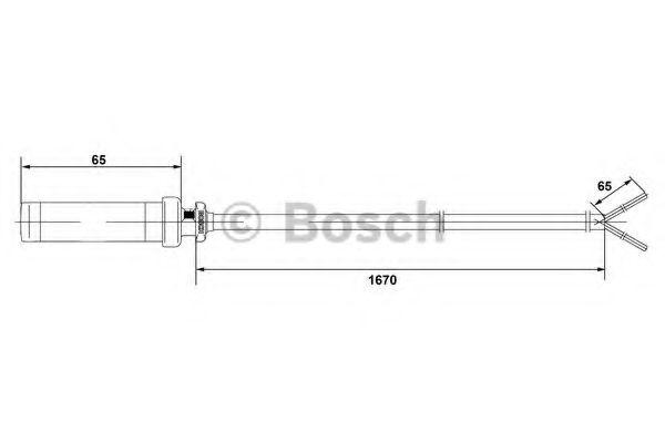 Датчик, частота вращения колеса BOSCH арт.