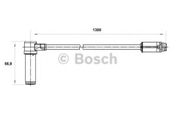 Датчик, частота вращения колеса BOSCH арт. 0265004025