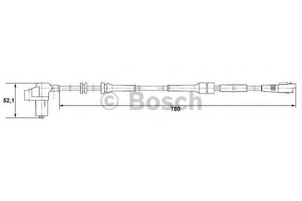 Датчик, частота вращения колеса BOSCH арт. 0265006730