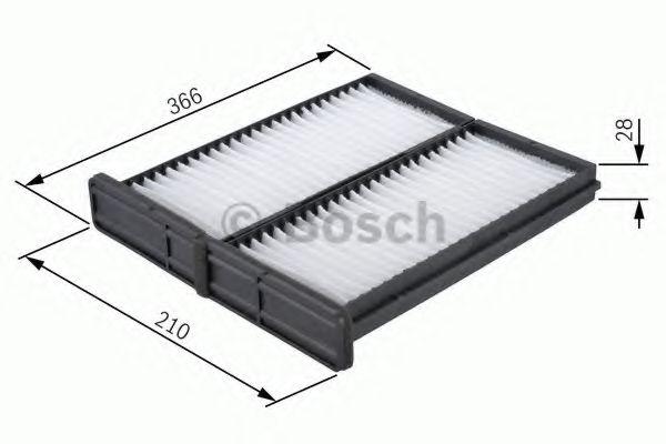 Фильтры прочие Фильтр, воздух во внутренном пространстве BOSCH арт. 1987432044