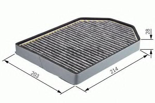 Фільтр салону вугільний Bosch 1987432367