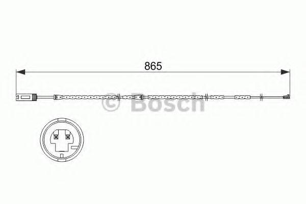 Аксессуары, тюнинг Сигнализатор, износ тормозных колодок BOSCH арт. 1987473519