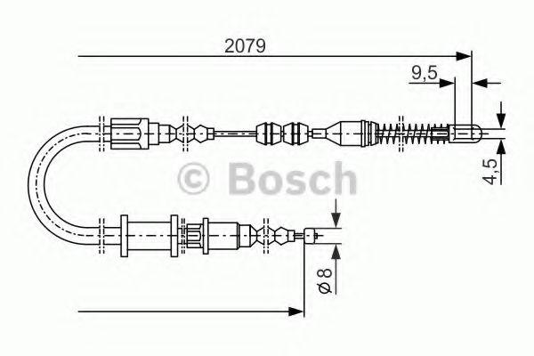 Трос, стояночная тормозная система BOSCH арт. 1987477141