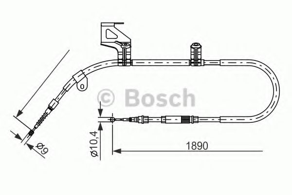 Трос, стояночная тормозная система BOSCH арт. 1987477803