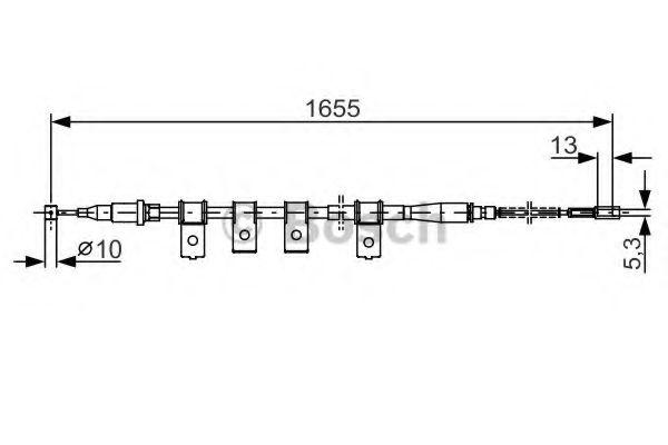Трос, стояночная тормозная система BOSCH арт. 1987477920