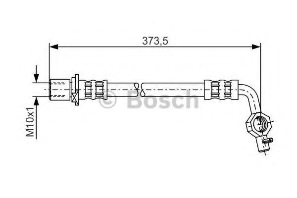 Тормозной шланг BOSCH арт. 1987481040