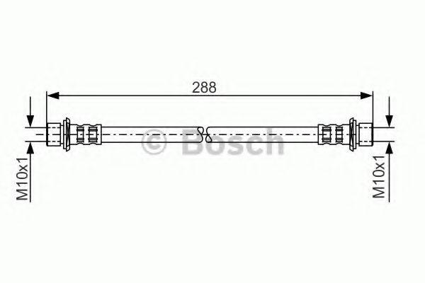 Тормозной шланг BOSCH арт. 1987481129