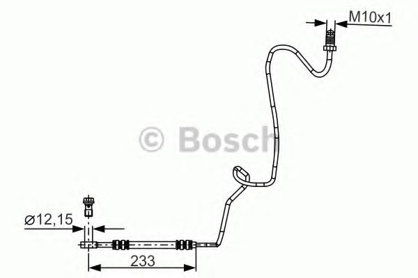 Тормозной шланг BOSCH арт. 1987481339