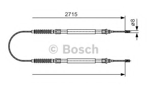 Трос, стояночная тормозная система BOSCH арт.