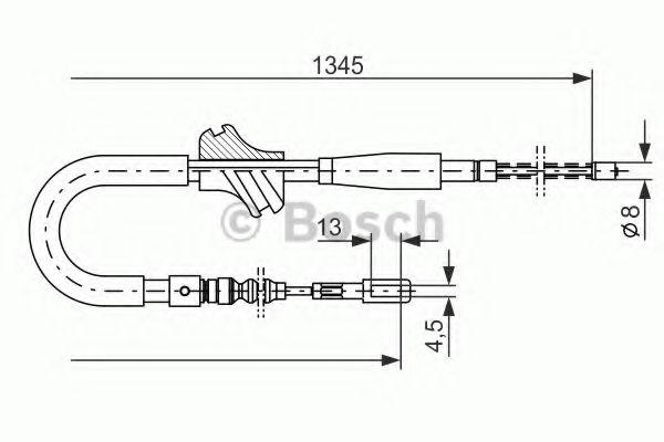 Трос, стояночная тормозная система BOSCH арт. 1987482101