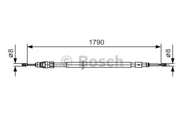 Трос, стояночная тормозная система BOSCH арт. 1987482112