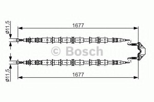 Трос, стояночная тормозная система BOSCH арт. 1987482141