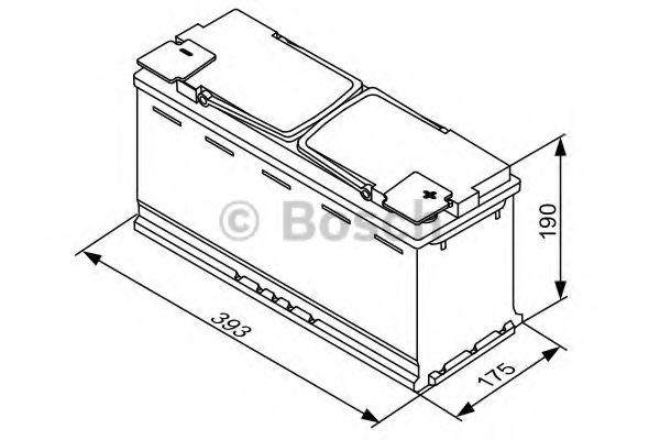 Стартерная аккумуляторная батарея Bosch - 0092S5A150