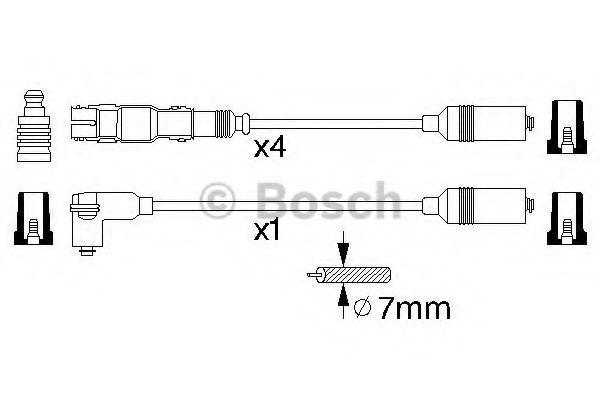 Комплект проводов зажигания BOSCH арт. 0986356304