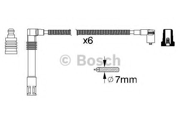 Комплект проводов зажигания BOSCH арт. 0986356321