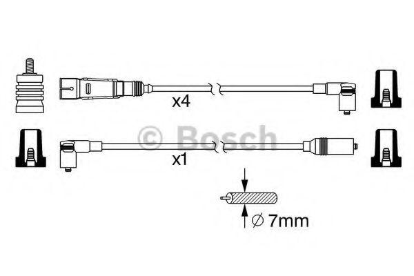 Комплект проводов зажигания BOSCH арт. 0986356342