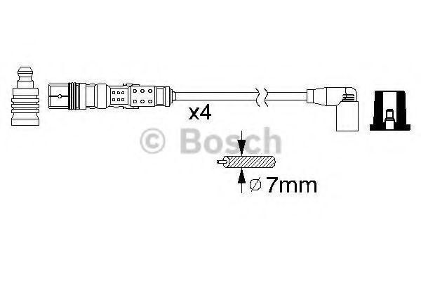 Комплект проводов зажигания BOSCH арт. 0986356346